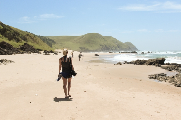 Deserted beaches and hiking without shoes