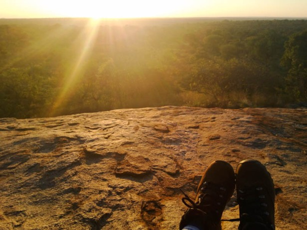 A lookout point, high up on a hill, where you can out of your car and sit on the massive boulder. This was my favourite sunset spot.