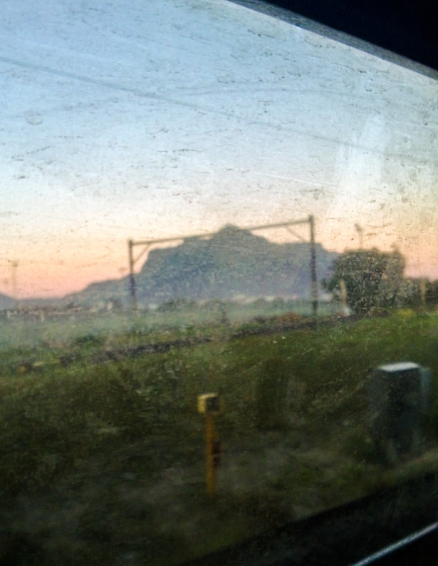 train sunrise